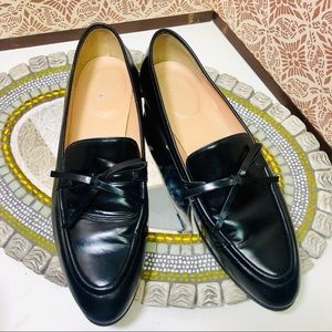 j.Crew black loafers , size 8, like new